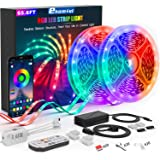 65.6ft LED Strip Lights, Ultra-Long Bluetooth APP Control LED Light Strip with Remote,ehomful 600LEDs RGB LED Lights for…