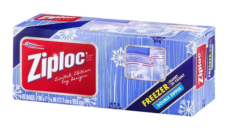 Amazon.com: Ziploc Double Zipper Freezer Bags - 20 CT ...