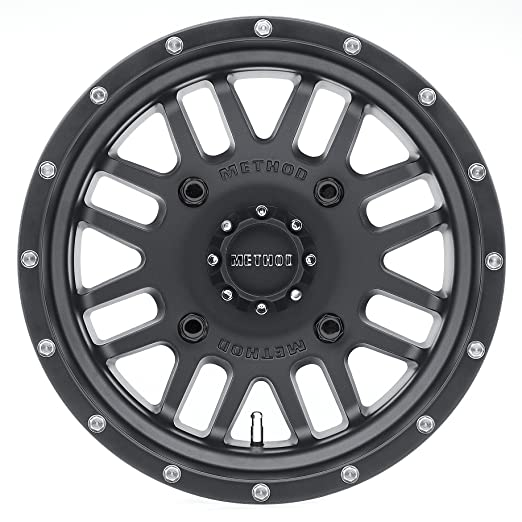 14x10//4x156mm Method Race Wheels The Mesh Matte Black Wheel with Stainless Steel Accent Bolts -2 mm offset