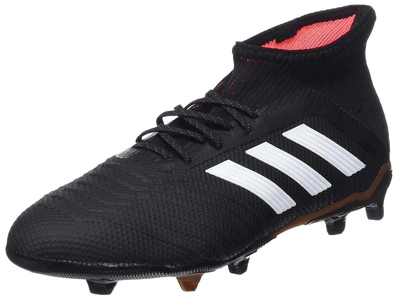 Adidas Predator 18.1 FG J, Botas de Fútbol Unisex Niños 32 EU|Negro (Negbas/Ftwbla/Rojsol 000)