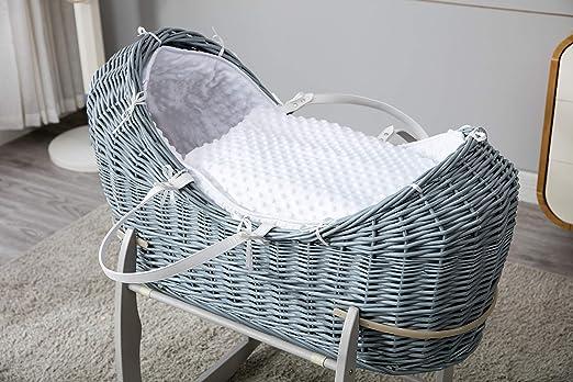 Mcc® komplettset moses weidenkorb kokonkorb baby korb stubenwagen