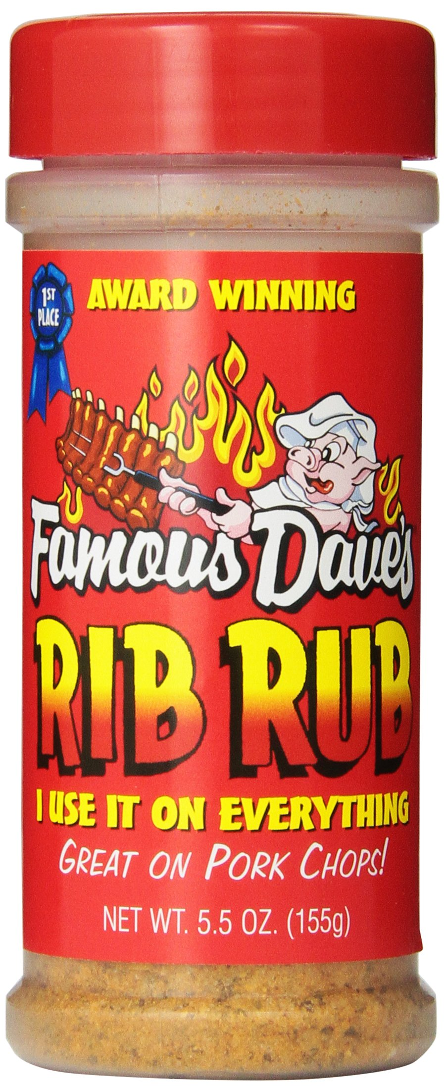 Famous Dave's Seasoning Rib Rub, 5.5-Ounce (Pack of 6)