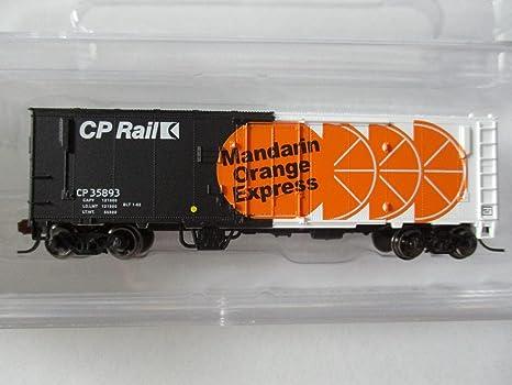 Amazon com: N Scale MTL #74020 40' Plug Door Boxcar CP Rail Mandarin
