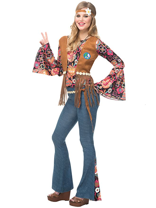 70s Costumes: Disco Costumes, Hippie Outfits Peace Out Adult Costume - Medium $36.13 AT vintagedancer.com