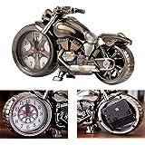 Motorrad-Wecker, Retro-Stil Tischuhr, Motorrad-Rack-Modell, für das Büro zu Hause Dekoration (4 unterschiedliche Designs,zufällig erhalten)