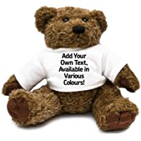 Personalised Add Your Own Text Teddy Bear unique gift idea kids thank you present