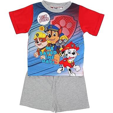 26a80a4703c PAW Patrol Boy's Top Pup Character Short Sleeved Summer Pyjamas Set (2-3  Years
