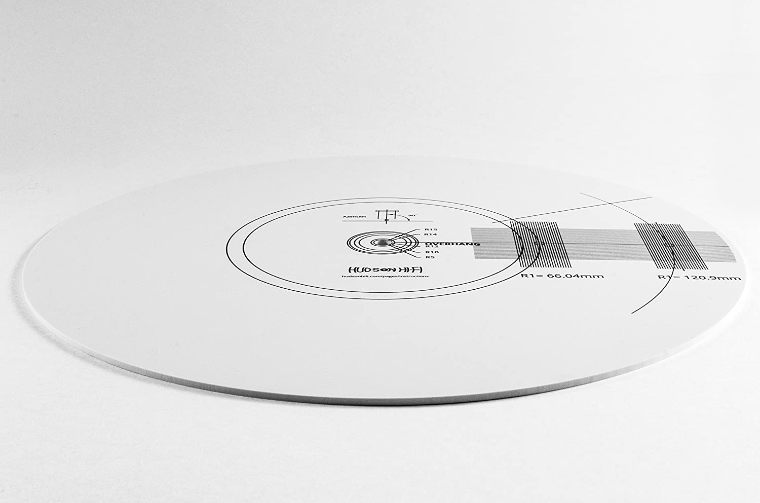 Double Sided: Protractor | Strobe Hudson Hi-Fi Stroboscope and Protractor Mat