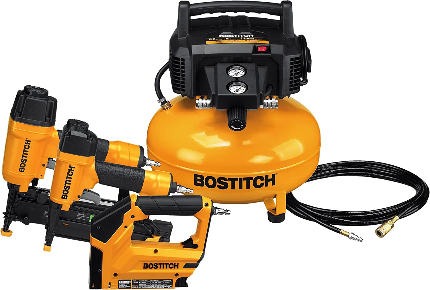BOSTITCH BTFP3KIT Air Compressor Combo Kit