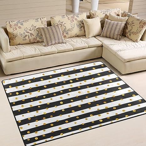Surprising Amazon Com Alaza Soft Indoor Modern Gold Dots White And Creativecarmelina Interior Chair Design Creativecarmelinacom