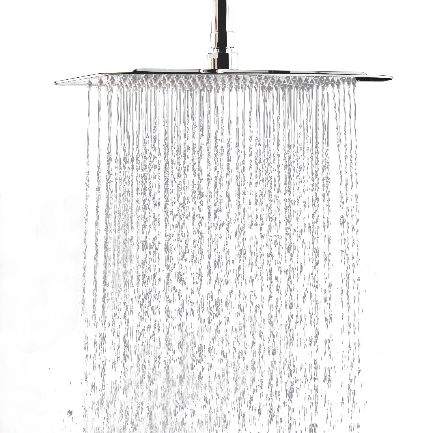 "WYJP 12"" Stainless Steel Large Square High Pressure Rain Shower Head"