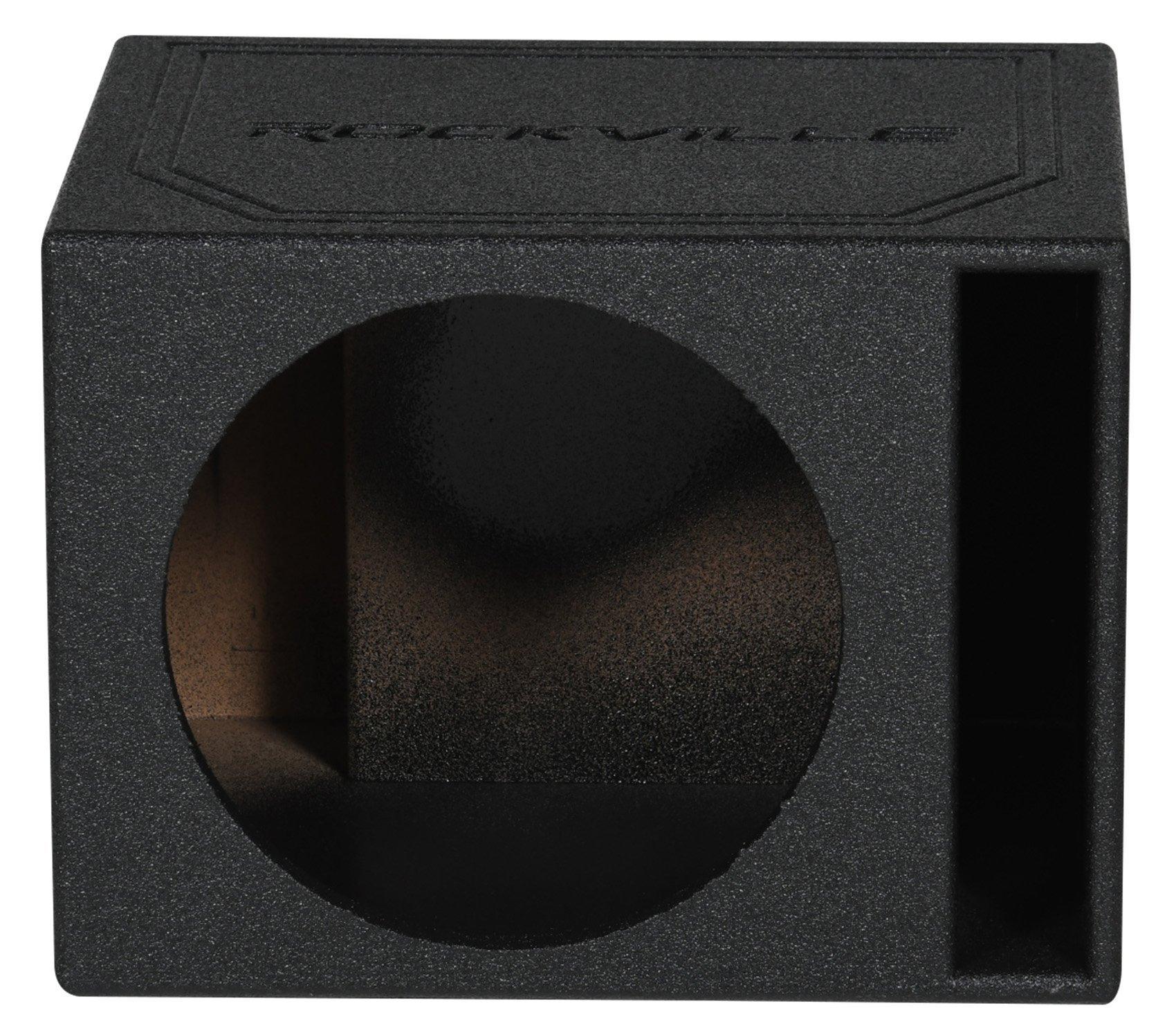 """Rockville RSV12B Single 12"""" 1.22 cu.ft. Bedlined Vented Subwoofer Enclosure Box"""