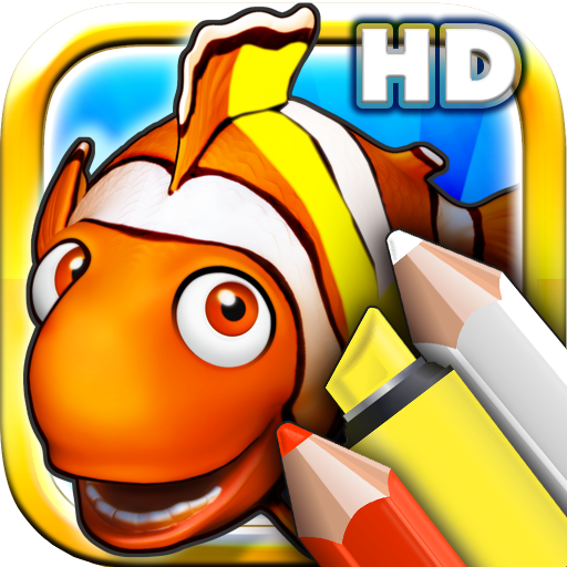 Reef Tool - Coloring books for toddlers HD - Colorize ocean animals and fish with colorful pencils and magic markers