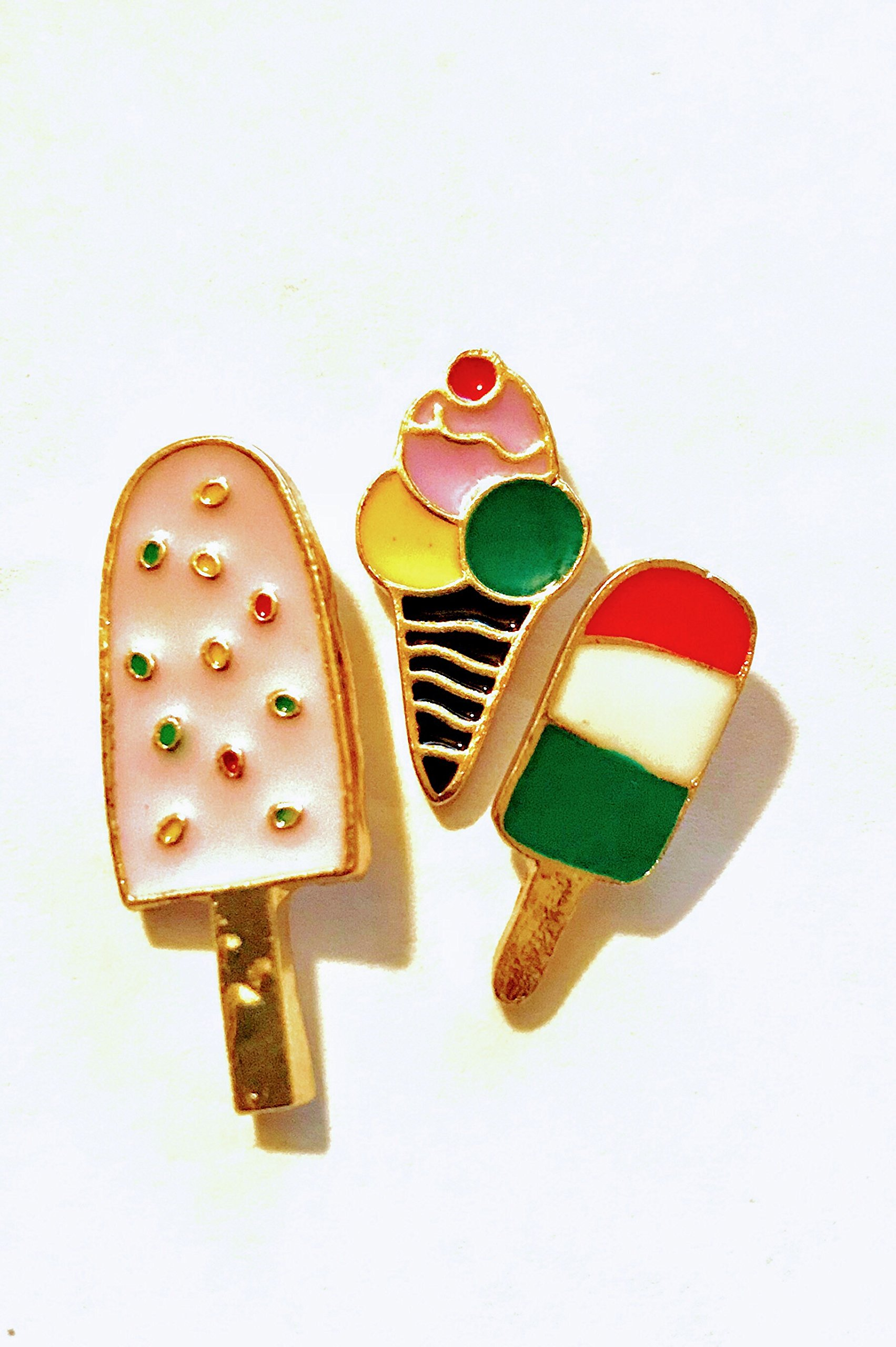 Summer Treats Popsicle Ice Cream Enamel Lapel Pin Brooch Set