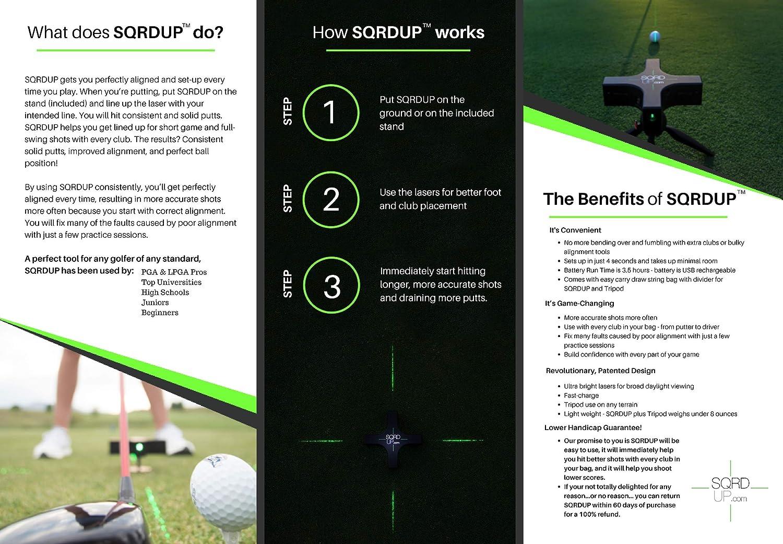 Amazon.com: SQRDUP - Ayuda de entrenamiento láser de golf ...