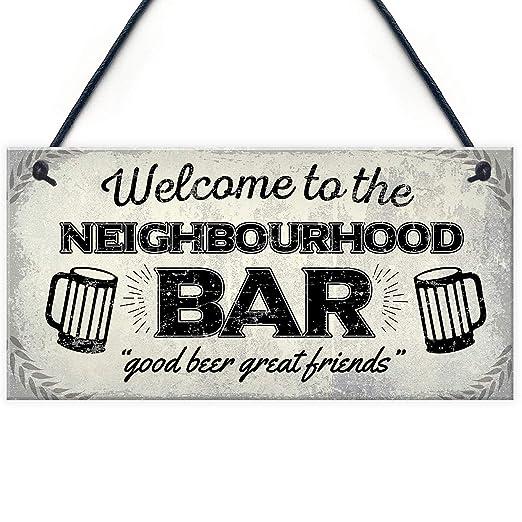 MiMiTee Welcome to The Neighbourhood Bar Cartel de Madera ...