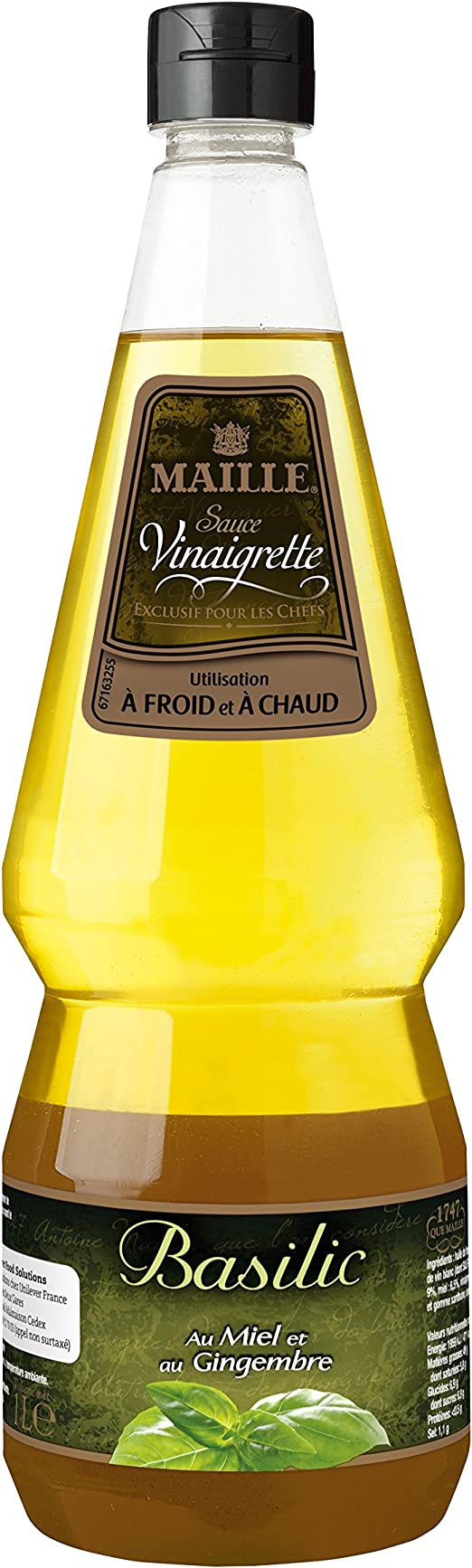 Maille Sauce Vinaigrette Basilic Saveurs Faits Maison 1l Lot De 2 Amazon Fr Epicerie