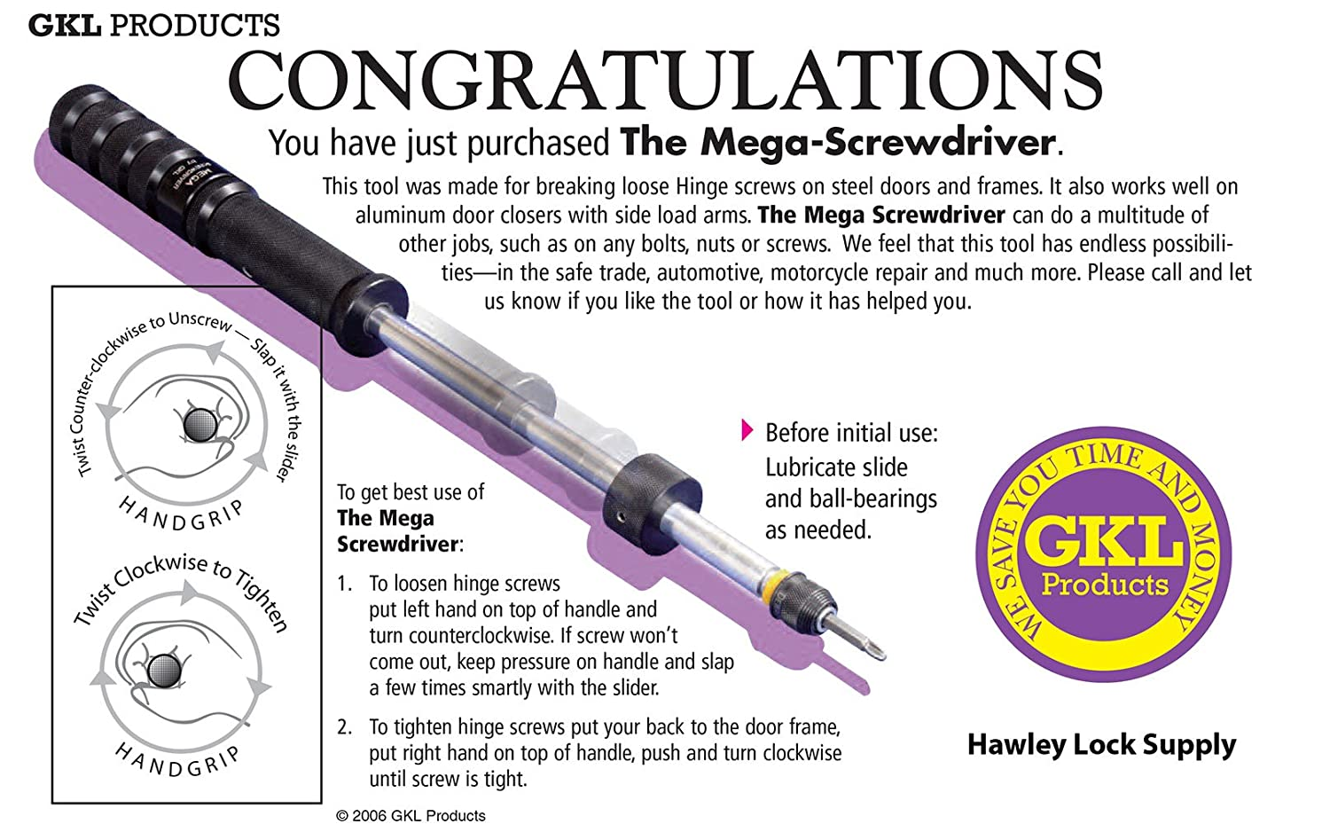 Mega Impact Screwdriver by GKL Products