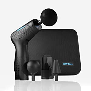 Massage Gun BFGun Pocket HyperDrive Percussive Therapy Muscle Massager Gun Stimulator - Real-Time Pain Relief Deep Tissue Shiatsu Trigger Point Sports Recovery Massager ImpactPlus