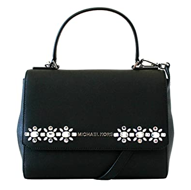 22ce5cd3ed60 Amazon.com  MICHAEL Michael Kors Women s JEWEL SMALL MESSENGER LEATHER  HANDBAG  Shoes