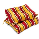 South Pine Porch AM6800S2-CARNIVAL Carnival Stripe Outdoor 20-inch Seat Cushion, Set of 2