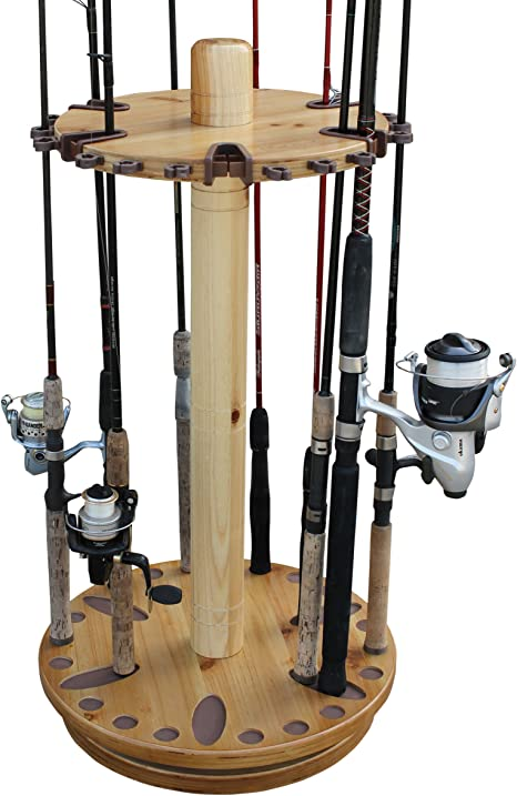 Rush Creek Creaciones Spinning 30 Pesca Rod Rack con Duo Rod Clips ...