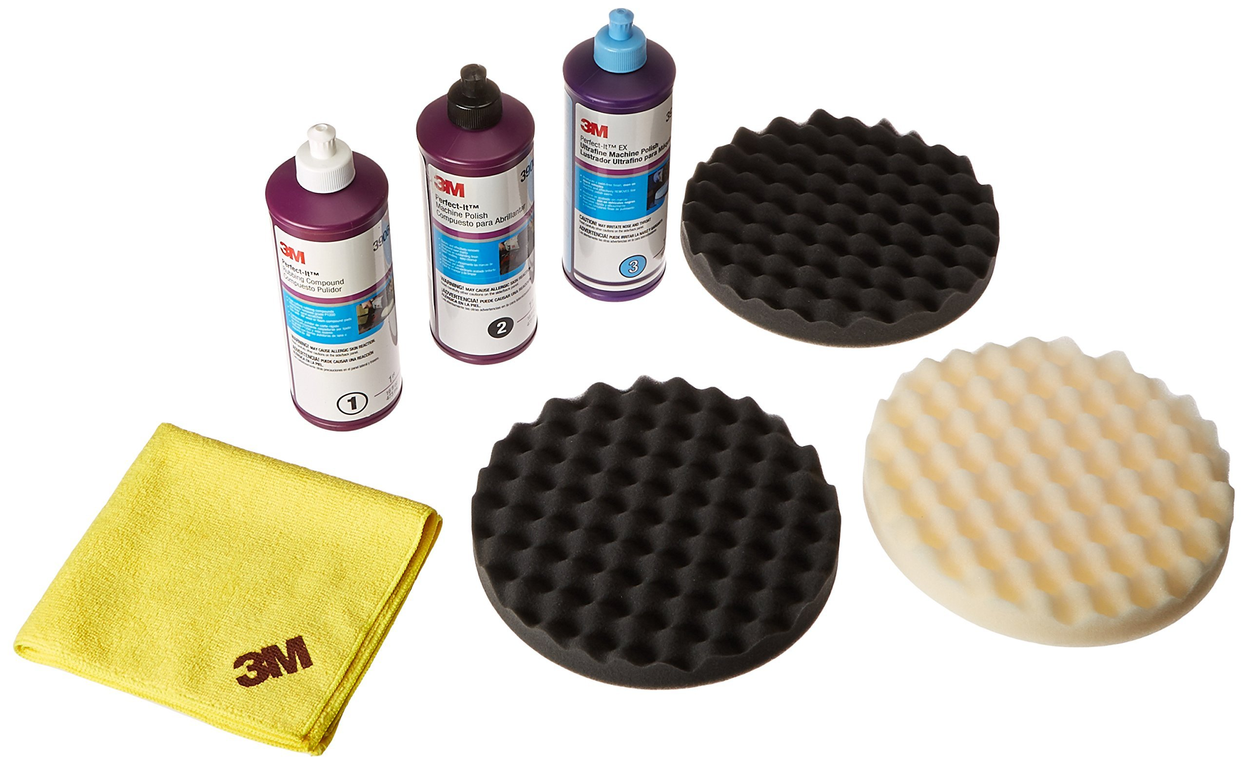 3M Perfect it BUFFING & POLISHING KIT Pad Compound Foam 39062 39061 39060 5723 5725 5751 by 3M