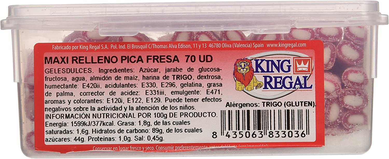 King Regal Maxi Relleno Pica Fresa - estuche 70 unidades: Amazon.es: Alimentación y bebidas