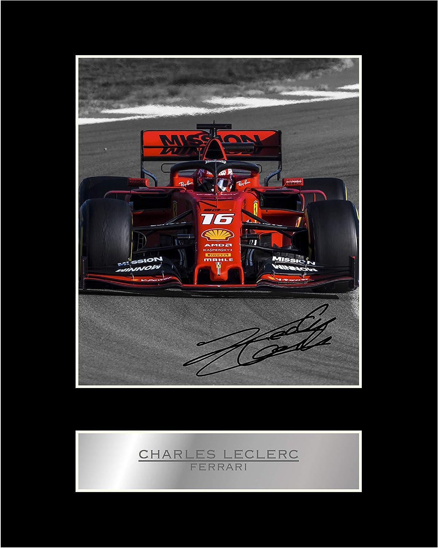 Foto firmada de Charles Leclerc Ferrari #3 con autógrafo