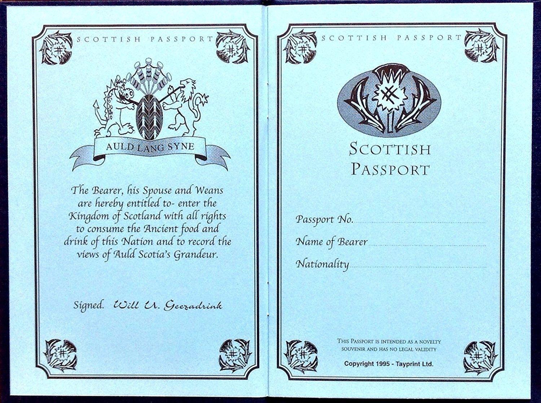2b82e1c02 Scottish gift's - SCOTTISH NOVELTY PASSPORT - uk gift: Amazon.co.uk: Office  Products