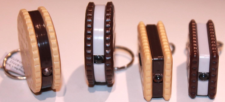 Sandwich Cookie Flashlight Keychain Assorted 12 Pack