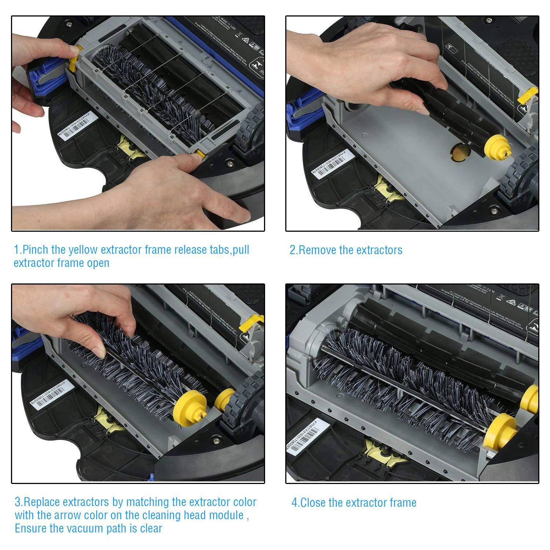 ARyee Reemplazo del kit de accesorios de la serie 600 para iRobot Roomba 600 620 630 650 660 series