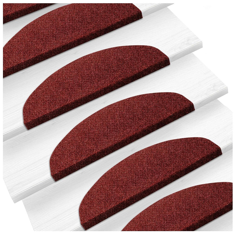 Set de 15 marchettes d'escalier etm® | surface confortable et antidérapante | taille 23x65cm | couleurs diverses - bleu