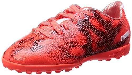 online retailer ccc74 23ca2 adidas - F10 Turf, Scarpe da Calcio per Bambini e Ragazzi, Rosso (Solar