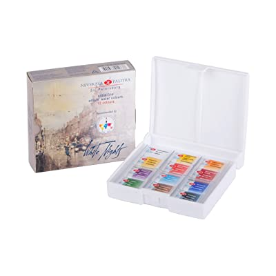 White Nights Artists Watercolour Set 12 Whole Pans, Plastic Box Unique Color Scheme and Design: Toys & Games