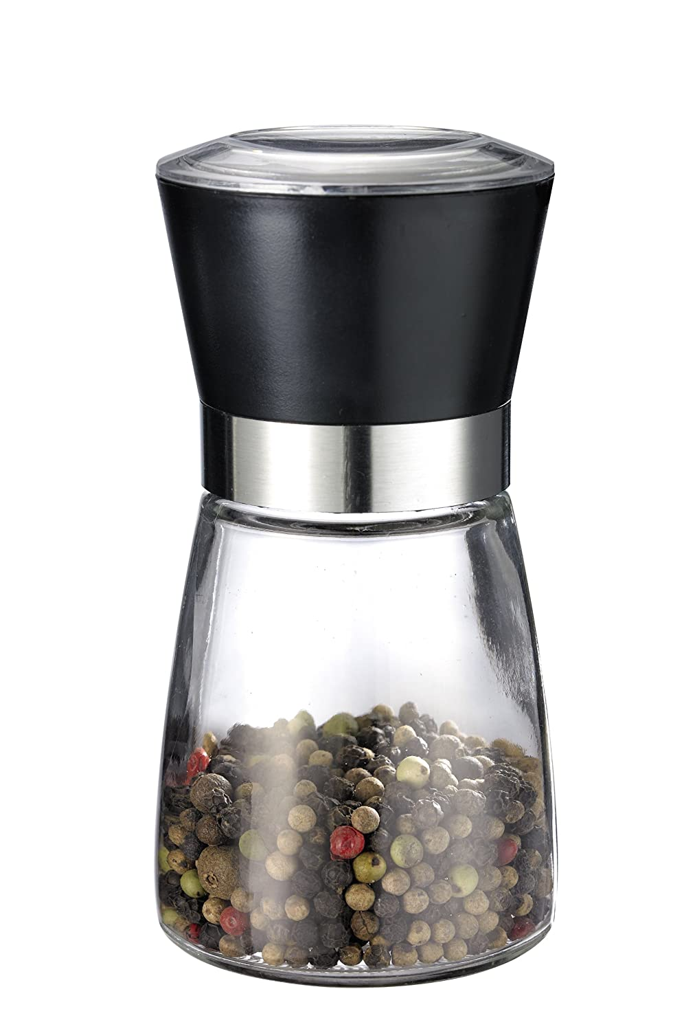Westmark 63542260 Salt Mill, Spice Mill and Pepper Grinder, Stainless Steel with Glass Bottle Global America Group - BISS