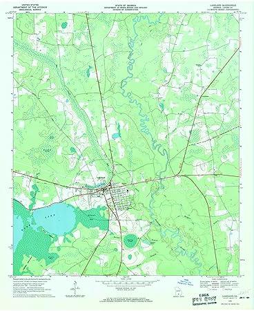 Amazoncom Georgia Maps Lakeland GA USGS Historical - Georgia topographic map