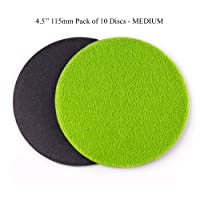 GP13403 GP-PRO100 MEDIUM Grade Sanding Disc for Glass, Silicon Carbide Abrasive Disc / 4.5-Inch (Pack of 10)