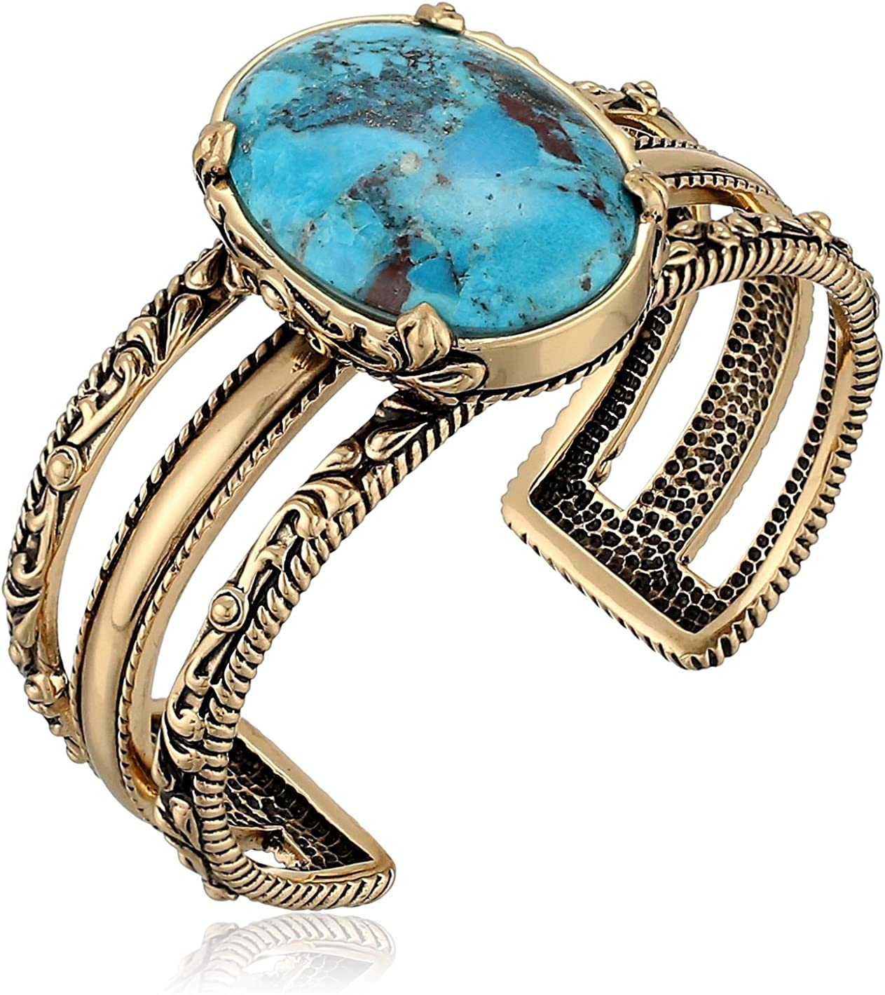 Barse Jubilee Turquoise and Copper Cuff