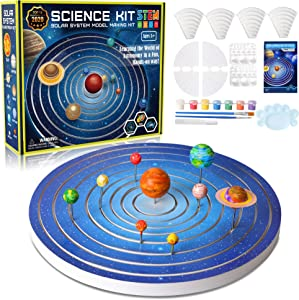 Solar System for Kids Science Experiments Model Building Kit, Glow in The Dark Paint Crafts Stem Projects for Kids Ages 8-12 Educational Learning Toys Gifts for Girls & Boys, 8 Planets