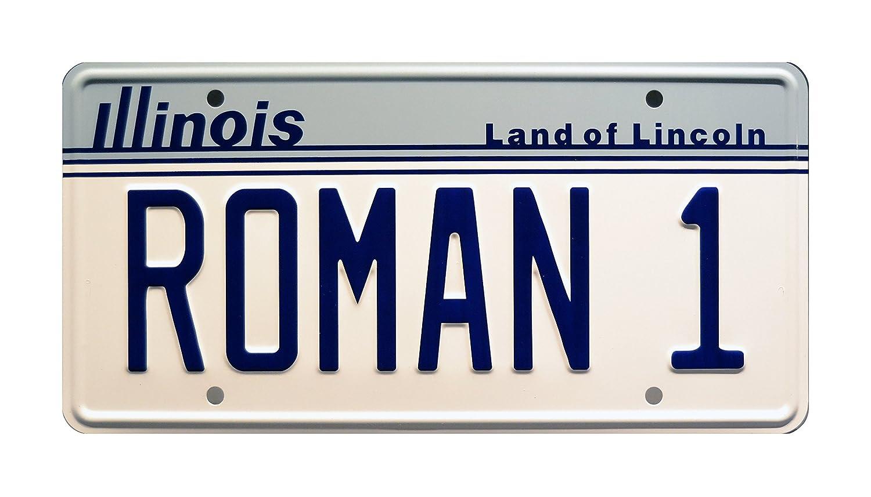The Great Outdoors | Dan Aykroyd | Roman 1 | Metal Stamped Vanity Prop License Plate Celebrity Machines