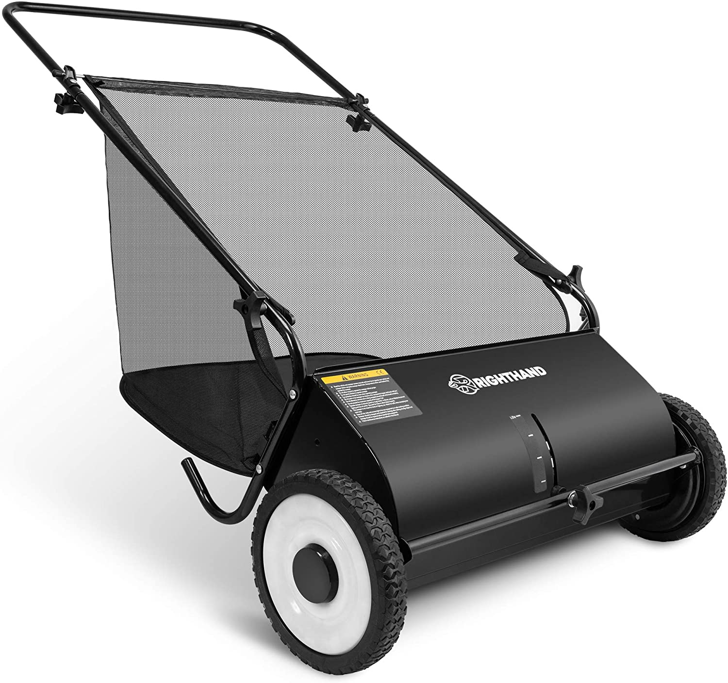 Right Hand Push Lawn Sweeper With Collection Bag