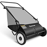 Right Hand 26-Inch Push Lawn Sweeper, Strong Rubber Wheels & Heavy Duty Durable Steel Structure Sweeps Leaf Grass & More…