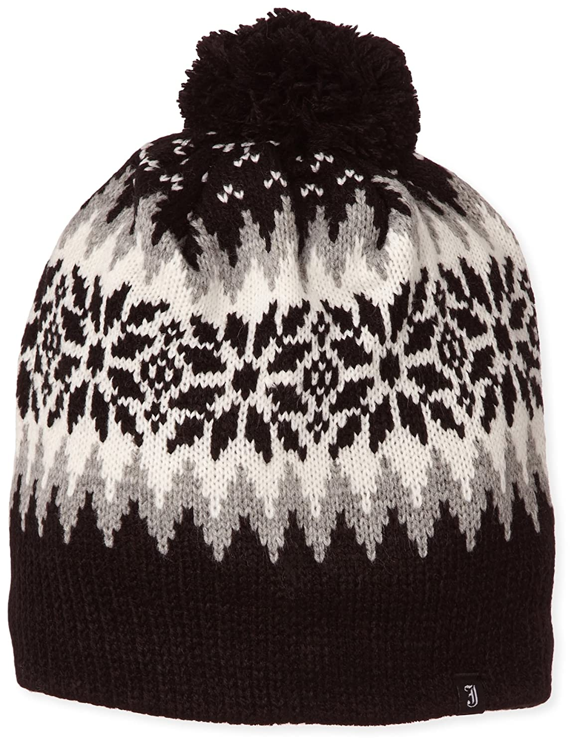 6df52c6ac13 Village Hats Men s Jaxon Hats Aspen Bobble Beanie Hat - Black Beanie Beanie