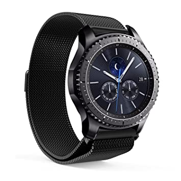 b67b5b413d5 EloBeth for Samsung Gear S3 Milanese Magnetic Loop Stainless Steel Mesh  Strap for Gear S3 Classic