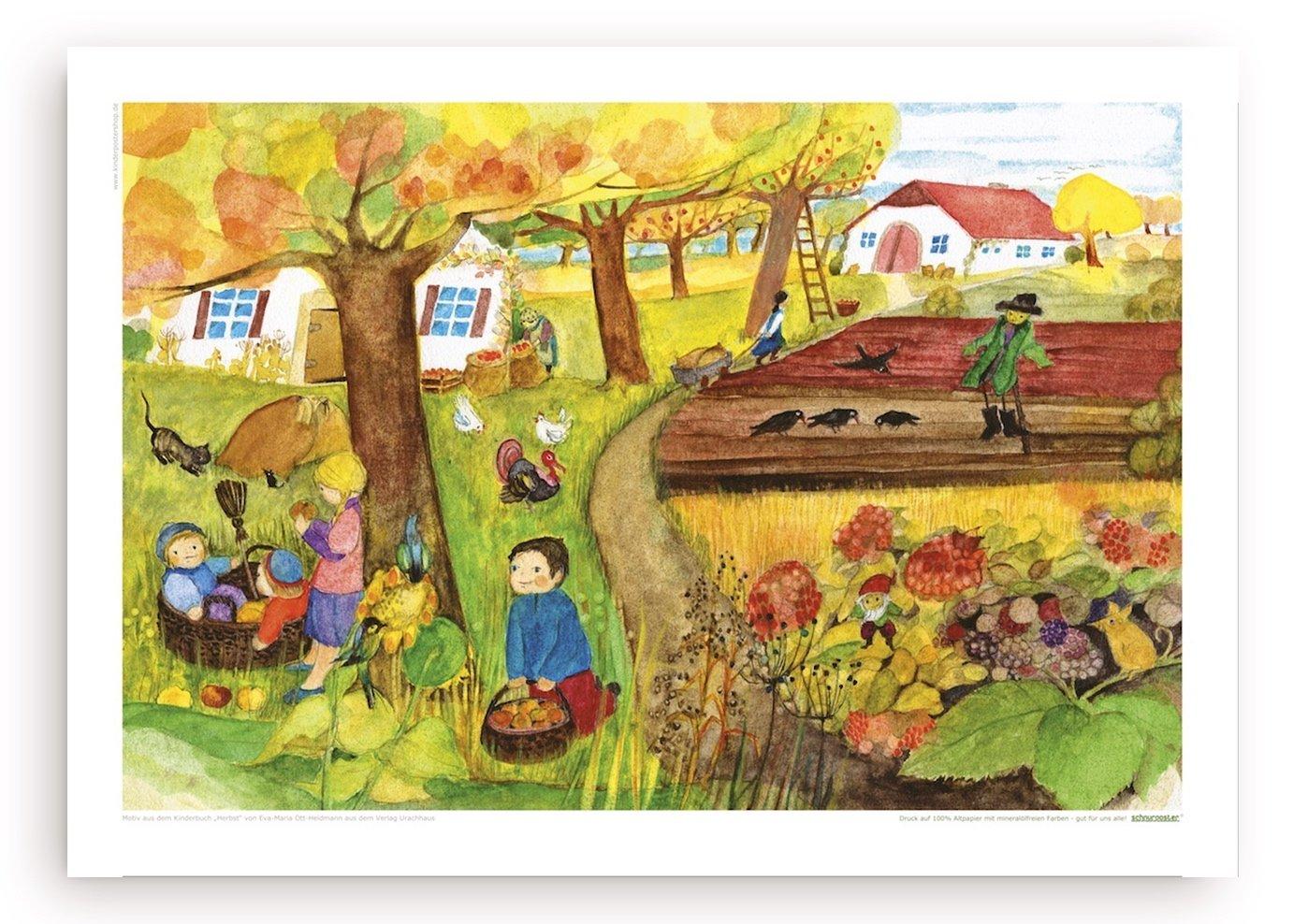 Herbstäpfel - Poster mit Illustration von E.M. Ott-Heidmann vom schnurverlag 403