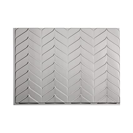 Prime Amazon Com Fasade Easy Installation Chevron Brushed Nickel Download Free Architecture Designs Remcamadebymaigaardcom