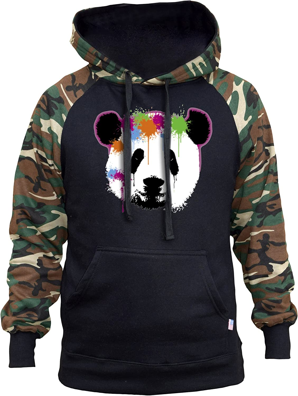 Christmas Panda Men/'s Raglan Hoodie Whiteblack  All size S-3XL B1465