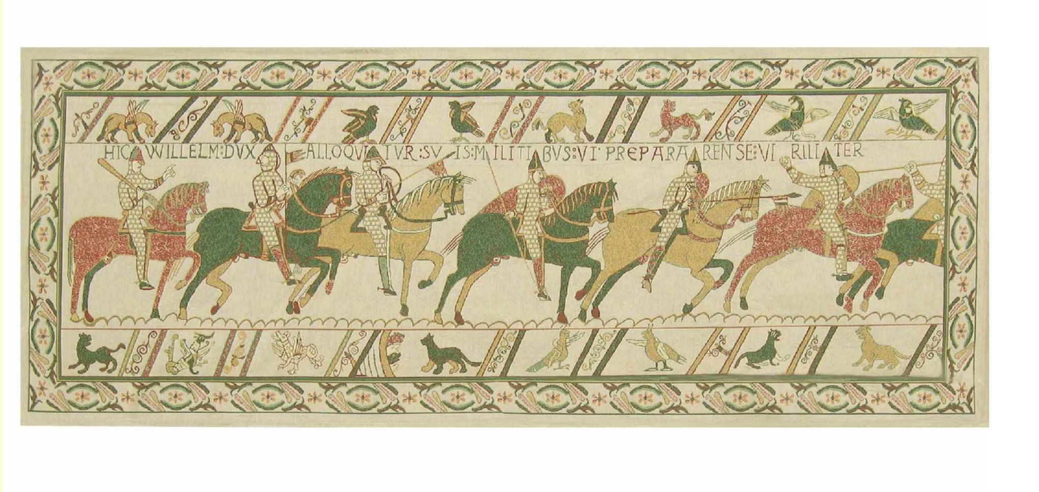 Bayeux William's Troops Belgian Wall Tapestry by Charlotte Home Furnishings Inc.