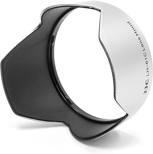 vhbw Kunststoff Gegenlichtblende Streulichtblende Sonnenblende 58mm schwarz f/ür Objektiv Olympus M.ZUIKO DIGITAL ED 14-150mm f4.0-5.6